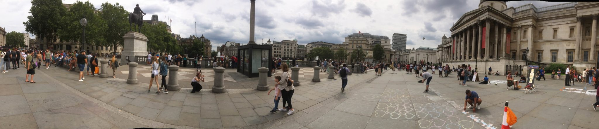 What an amazing part of London: Trafalgar Square