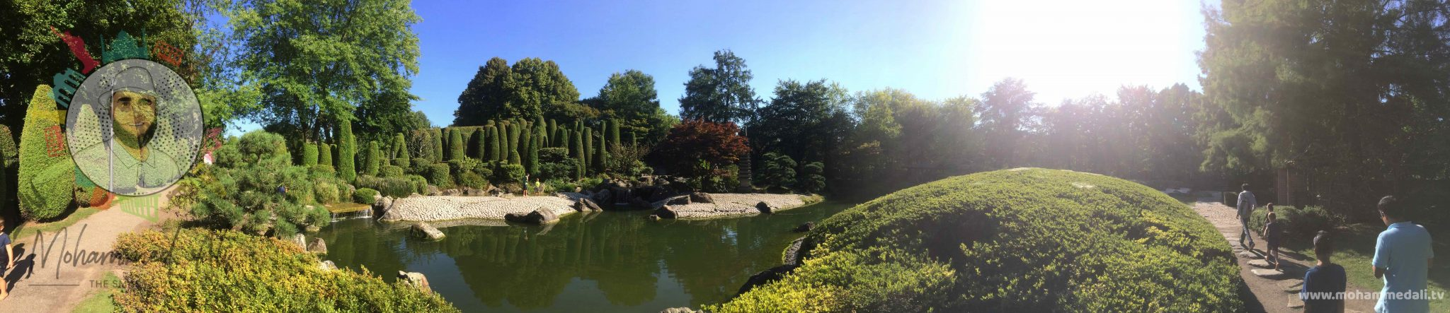 Amazing Japanese Garden in the Bonner Rheinaue in Germany