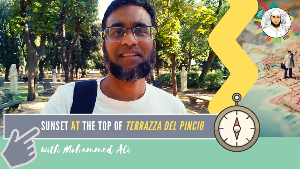 Amazing view from Terrazza del Pincio | Rome Tour | Mohammed Ali | 061