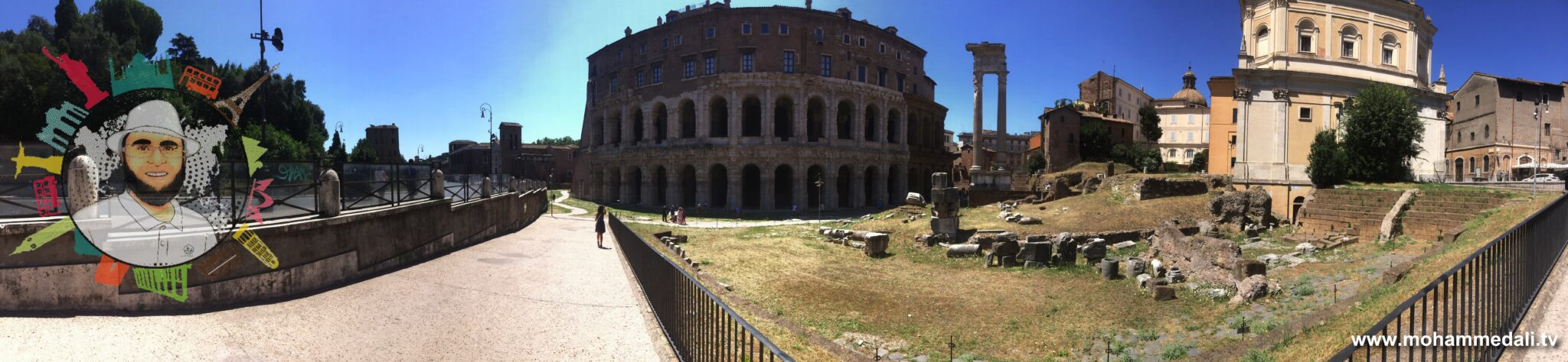 Theatre of Marcellus | Visit Rome in 3 Days | Italy Tour with Mohammed Ali